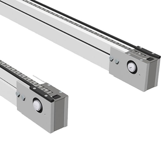 accumulating roller chain conveyor
