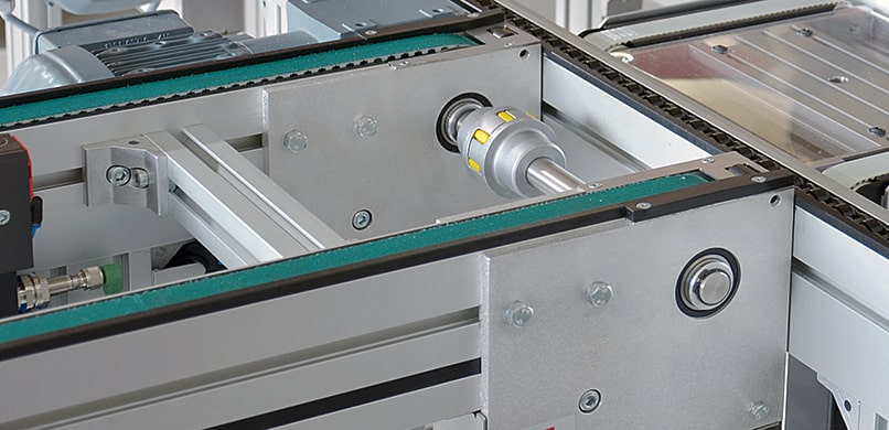 Small Pallet Timing Belt Conveyor