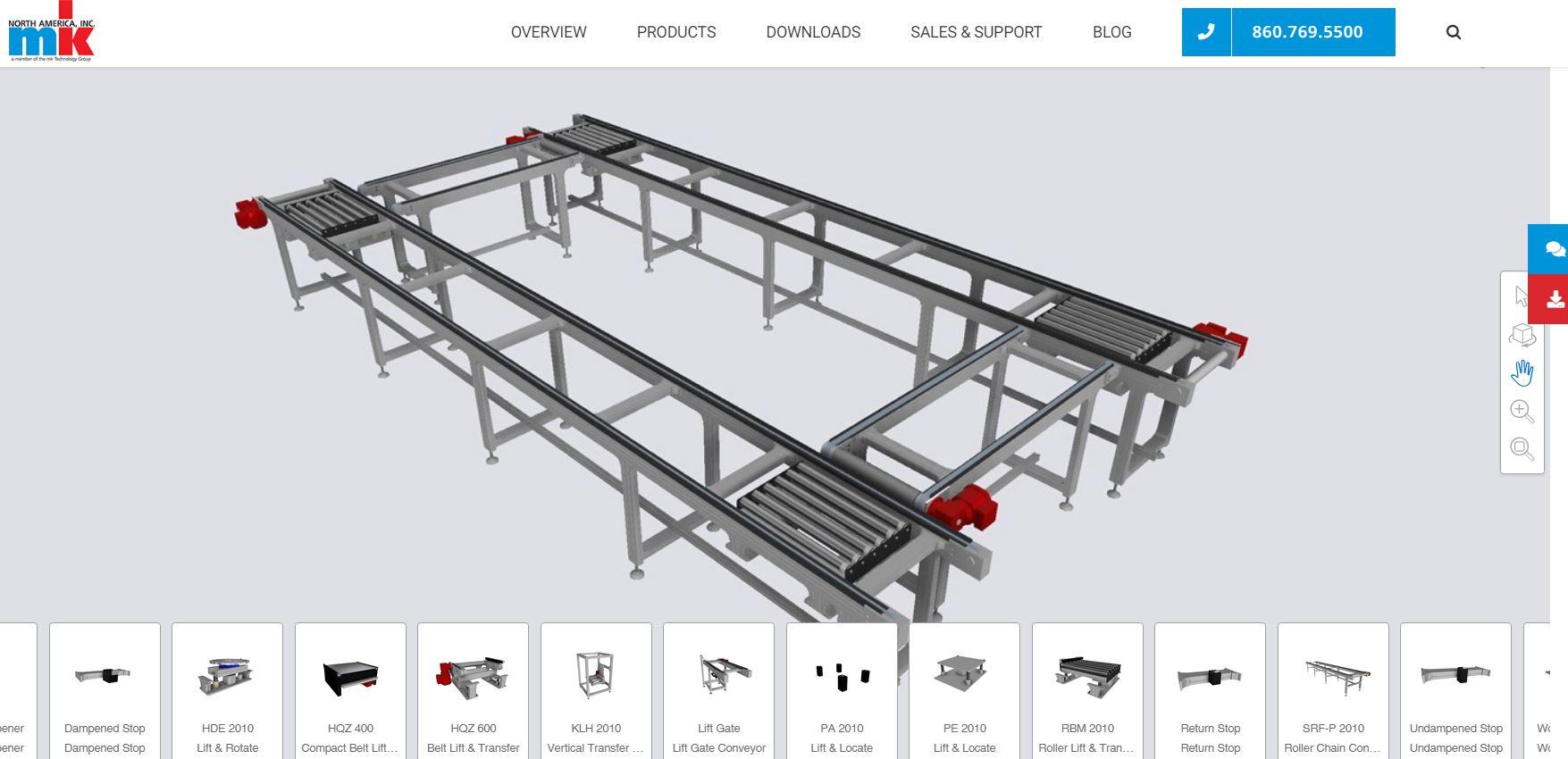 Conveyor system configurator